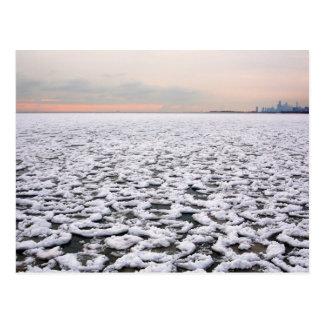 Cartão Postal Opinião do parque de Rogers do Lago Michigan no