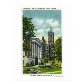Cartão Postal Opinião do terreno de Siracusa U que mostra a