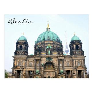 Cartão Postal Opinião do vintage da catedral de Berlim (os DOM