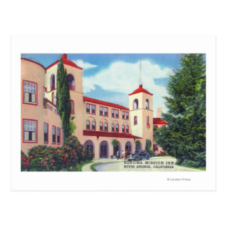 Cartão Postal Opinião exterior a pensão da missão de Sonoma