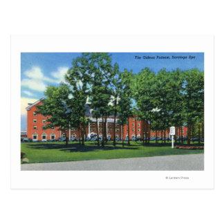 Cartão Postal Opinião exterior o Gideon Putnam, Saratoga