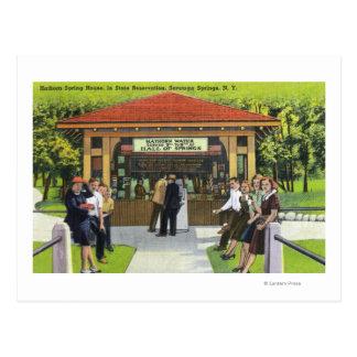 Cartão Postal Opinião os turistas na casa do primavera de