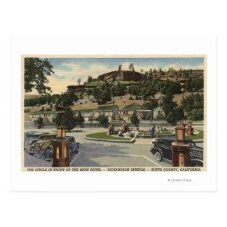 Cartão Postal Opinião principal do hotel nos primaveras de