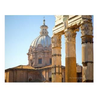 Cartão Postal Opinião Santi Luca e Martina no fórum romano