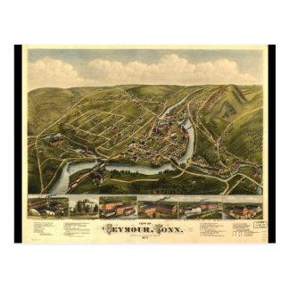 Cartão Postal Opinião Seymour Connecticut (1879)