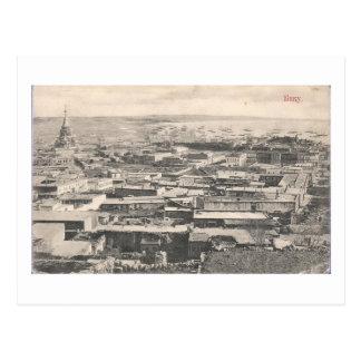 Cartão Postal Opinião velha de Baku (1911) - com catedral do
