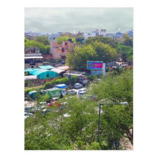 Cartão Postal Opiniões do tráfego de Nova Deli India das