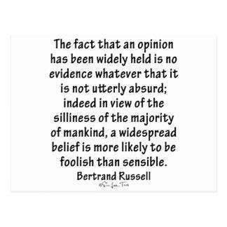 Cartão Postal Opiniões por Bertrand Russell