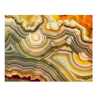 Cartão Postal Opus louco 02 da fantasia da ágata do laço