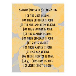 Cartão Postal Oração da natividade de St Augustine