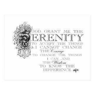 Cartão Postal Oração da serenidade
