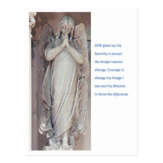 Cartão Postal Oração da serenidade com anjo