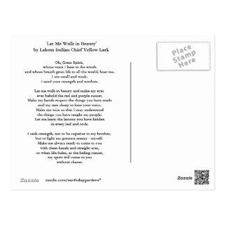 Cartão Postal Oração de Lakota
