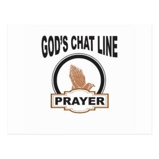 Cartão Postal oração do bate-papo dos deuses