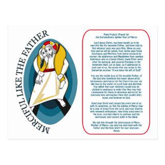 Cartão Postal Oração do papa Francis para o jubileu