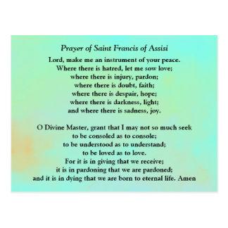 Cartão Postal Oração do santo Francisco de Assis