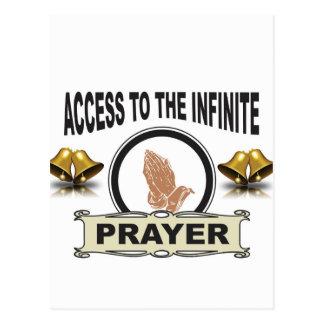 Cartão Postal oração infinita do acesso