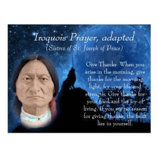Cartão Postal Oração Iroquois