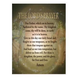 Cartão Postal Oração - Oração de senhor