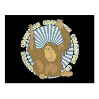 Cartão Postal Orangotango clássico