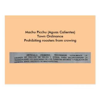 Cartão Postal Ordenação da cidade de Machu Picchu (águas