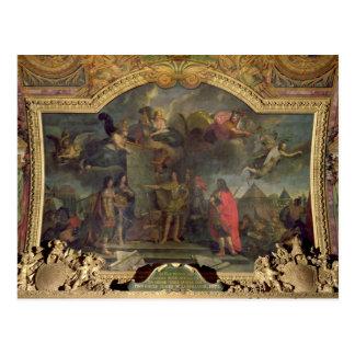 Cartão Postal Ordens do rei Louis XIV a atacar simultaneamente