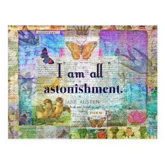Cartão Postal Orgulho de Jane Austen e citações do preconceito