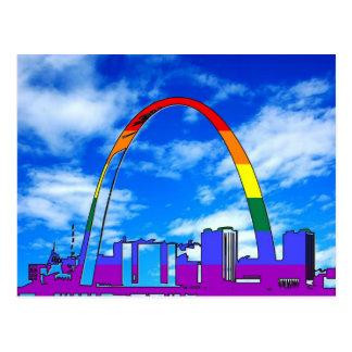 Cartão Postal Orgulho de St Louis GLBT