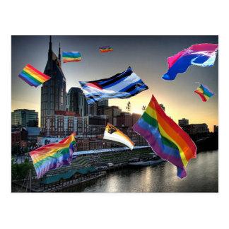 Cartão Postal Orgulho do vôo sobre Nashville