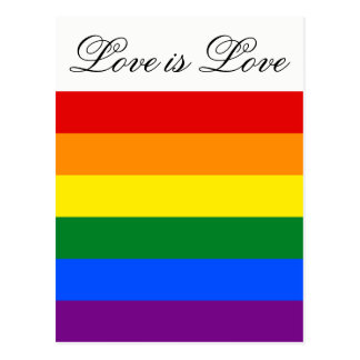 Cartão Postal Orgulho gay da lésbica da bandeira LGBT do