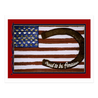Cartão Postal Orgulhoso ser americano, patriótico