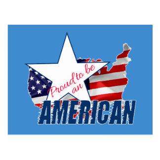 Cartão Postal Orgulhoso ser um americano