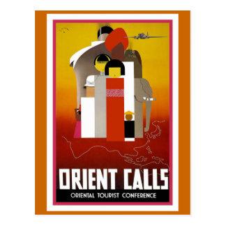"""Cartão Postal """"Oriente chama"""" o poster das viagens vintage"""