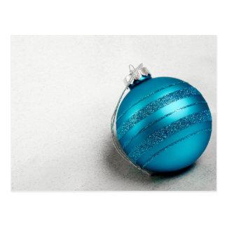 Cartão Postal Ornamento azul do feriado do Natal e do Hanukkah