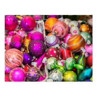 Cartão Postal Ornamento de vidro tradicionais no mercado do