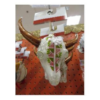Cartão Postal Ornamento do crânio do gado
