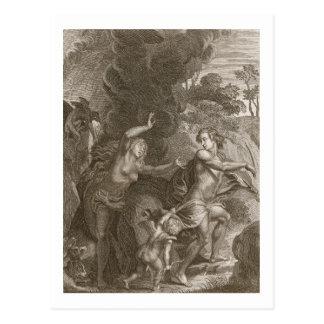 Cartão Postal Orpheus, Eurídice de condução fora do inferno,