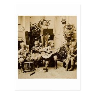 Cartão Postal Orquestra dos rapazes pequenos - vintage