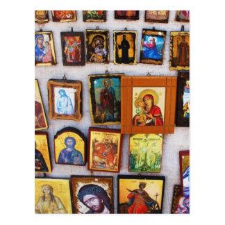 Cartão Postal Ortodoxo, cristão, ícones, bizantino, GrPostcard
