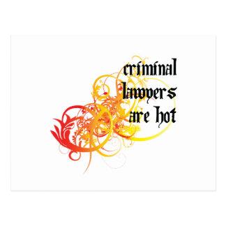 Cartão Postal Os advogados criminosos estão quentes