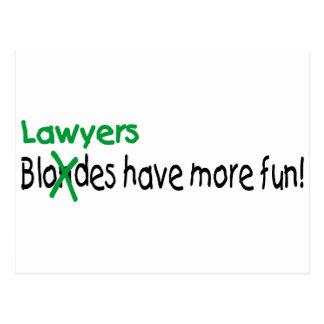 Cartão Postal Os advogados têm mais divertimento