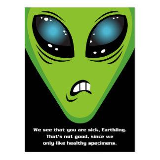Cartão Postal Os aliens irritados obtêm bem