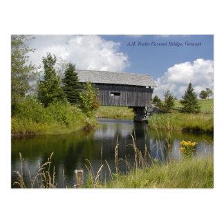 Cartão Postal Os AM promovem a ponte em Vermont