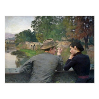 Cartão Postal Os amantes, 1888