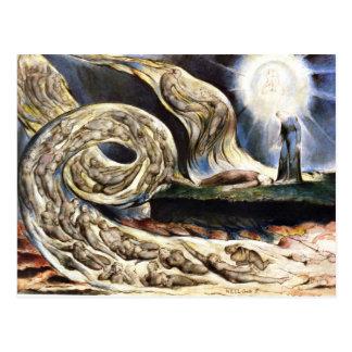 Cartão Postal Os amantes' remoinho, William Blake