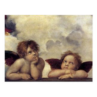 Cartão Postal Os anjos de Raphael