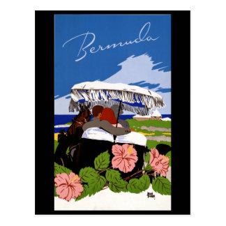 Cartão Postal Os anos 40 de Bermuda das viagens vintage