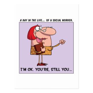 Cartão Postal Os assistentes sociais são UM-APROVADOS a mim