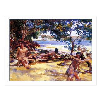 Cartão Postal Os Bathers por John Singer Sargent