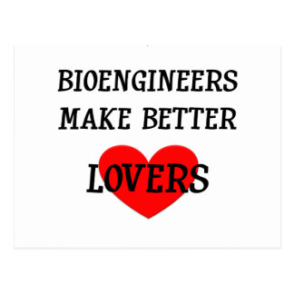 Cartão Postal Os Bioengineers fazem melhores amantes